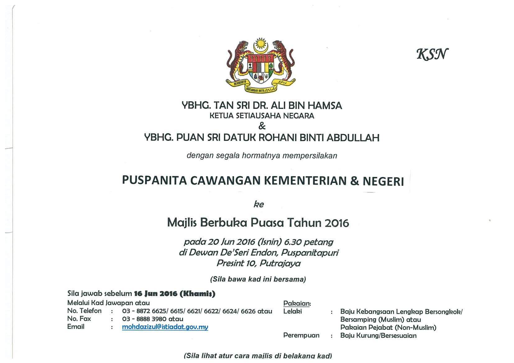 Protokol Surat Rasmi Kepada Perdana Menteri Rasmi O
