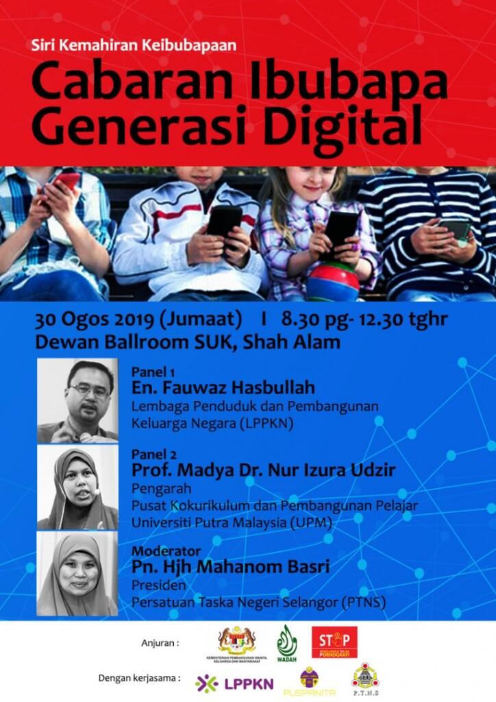 seminar cabaran ibubapa generasi digital 30 ogos 2019