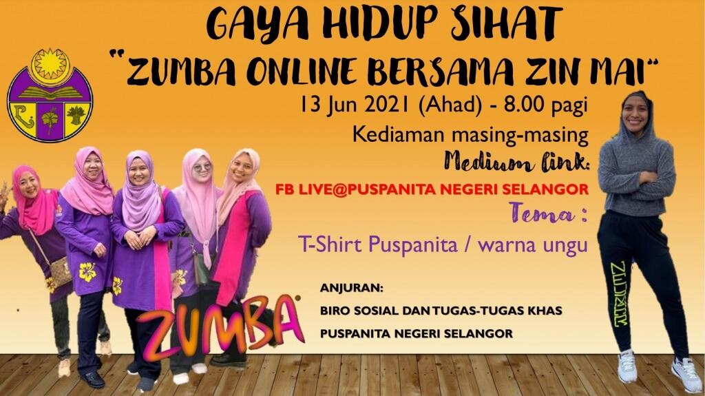 Zumba Online Puspanita Selangor 13Jun2021 fblive