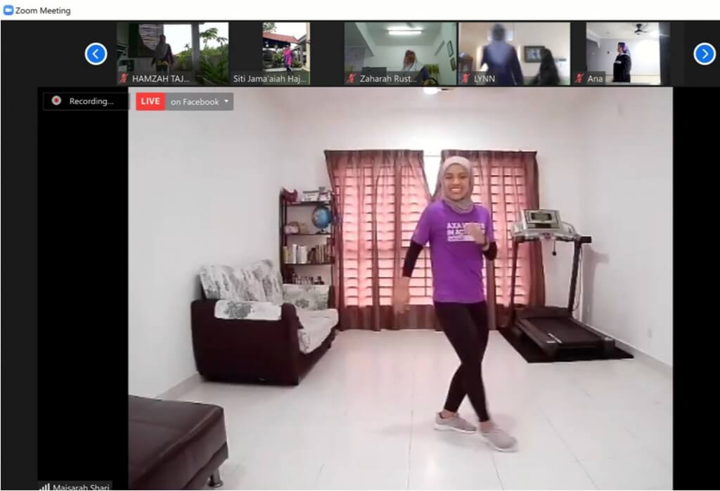 Zumba Online Puspanita Selangor 13Jun2021 fblive2